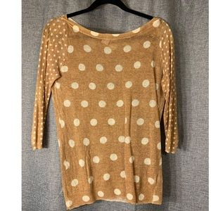 Tan polka dot sweater